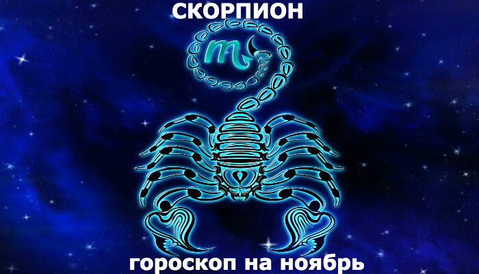 Скорпион : гороскоп на месяц ноябрь 2019