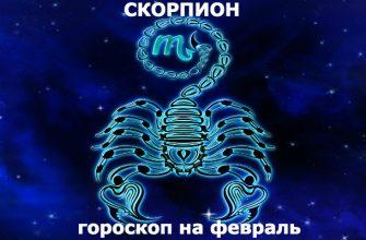 Скорпион : гороскоп на месяц февраль 2020